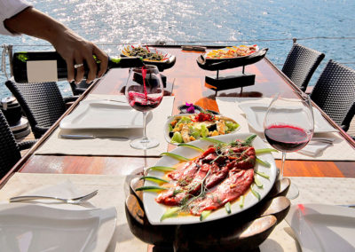 Selections of fine foods prepared by our private chefs are all inclusive