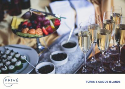 Gourmet Dishes - hors-devours and Champagne