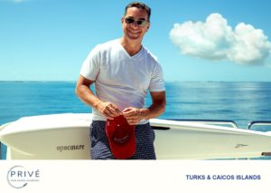 Guest on bow of Azimut Luxury Motor Yacht