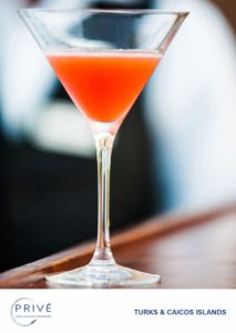 Deep focus photo of rum punch cocktail in chilled martini glass