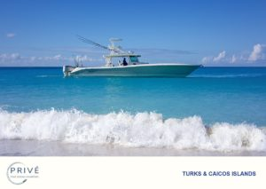 Hydrasports 53' motor boat cruising calm turquoise blue water
