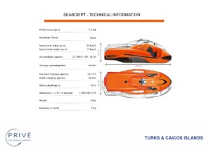 Diagram and specifications of Seabob F7