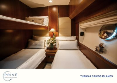 Azimut Yacht - Twin Guest Stateroom - optional Pullman