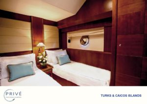 Spacious stateroom with twin beds