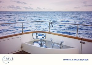 Looking out to the horizon over Azimut Yacht's starboard stern side