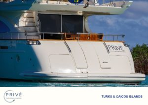 Stern view of Prive's Fine Ocean Charters' Azimut 80 Sports Yacht