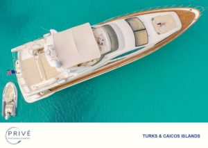 Top view of Azimut 80 Sports Yacht and tender