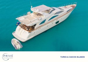 45 degree arial view of Azimut 80 Sports Yacht and tender