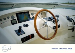 View of Azimut 80 captains console on the fly deck