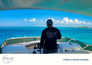 Boat captain cruising the shores of the Turks and Caicos